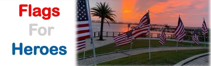 """Flags for Heroes"""" project sponsored by the Daytona Beach West Rotary Club"""